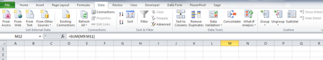 Excel Data Ribbon