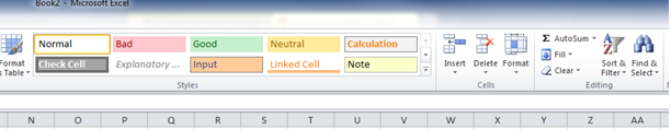 Excel Formatting 2